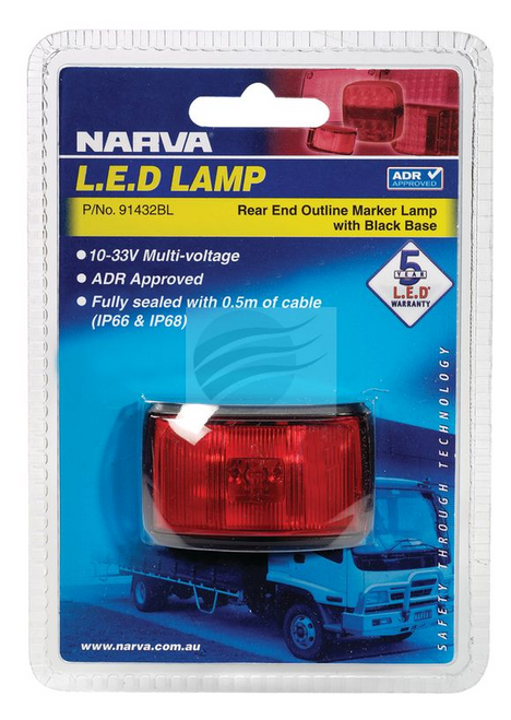 91432BL - Rear Position Marker Light Multi-Volt Single Pack. Narva. CD. Ultimate LED.