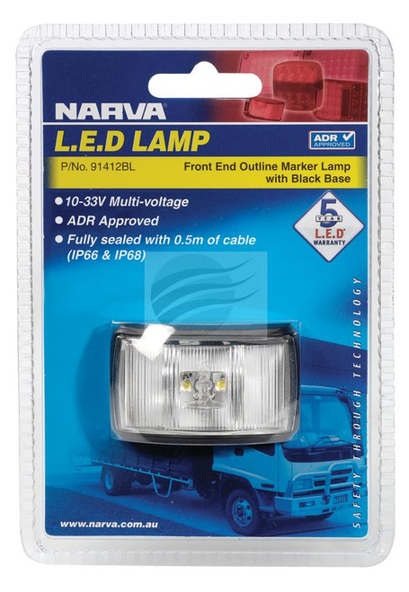 91412BL - Front Position Marker Light Multi-Volt Single Pack. Narva. CD. Ultimate LED.