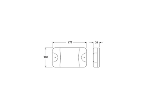 Line Drawing - LS9062 - 180 Series Reverse Light. Multi-Volt. Single Pack. Jaylec. CD. Ultimate LED.