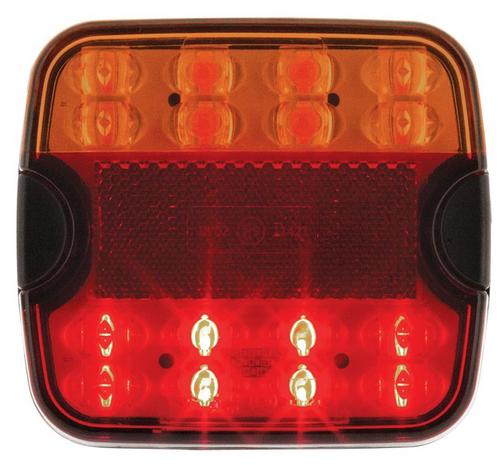 LS9006 - Square LED Combination Stop Tail Indicator Light. Multi-volt. Twin Pack. Jaylec. CD. Ultimate LED.