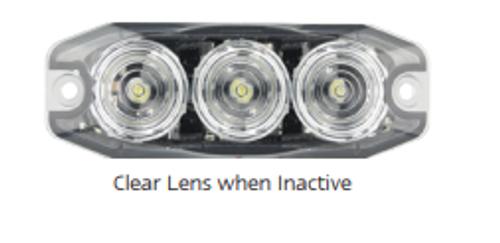 Off  - 120033WM - LED Strobe Module Lamp White. 11 Strobe Patterns Multi-Volt 12v & 24 Volt 3M Tape or Screw On Fitting. Single Pack Clear Housing Clear Lens & White LED's Super Slim Line Light. Go Stealth. Autolamps. Ultimate LED.