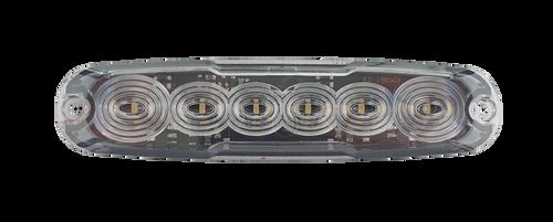 12WM-2  - Reverse LED Slim Line Module Lamp White. Light Pattern x On Multi-Volt 12v & 24 Volt 3M Tape or Screw on Fitting. Twin Pack Clear Housing Clear Lens & White LED's. Super Slim Line Light. Go Stealth. Autolamps. Ultimate LED.