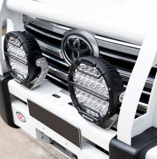 Tough Unit RDL4901S - 9 inch Dominator DL2 Series Driving Lights with Daytime Running Lights. 142 watts. Tough and Durable. Premium Driving Light. Spot Beam. RoadVision. Ultimate LED.