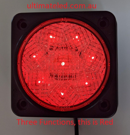 Traffic Control Warehouse and Workplace Lights. Three Functions. This is Red Function for Stop. Ultimate LED
