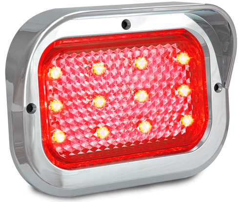 130CCRM - Chrome Truck Series. Recess Mount. Stop, Tail Light. Chrome Hooded Recessed Design. Shock, Dust and Water Proof. 5 Year Warranty. Includes Grommet Chrome Hood and Plug. Autolamps. Ultimate LED.