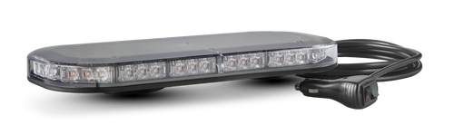 LB380ACM - Emergency Mini Bars. Surface Mount. Amber Emergency Mini Bar 380 Series. Clear Lens. Single Bolt Mount. 5 Year Warranty. Multi-Volt 12v & 24v. Class 1. 18 Selectable Flash Patterns. Autolamps.  Ultimate LED.