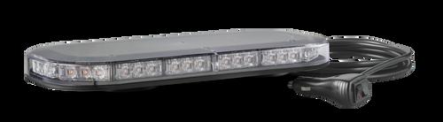 LB380ACM - Emergency Mini Bars. Surface Mount. Amber Emergency Mini Bar 380 Series. Clear Lens. Single Bolt Mount. 5 Year Warranty. Multi-Volt 12v & 24v. Class 1. 18 Selectable Flash Patterns. Autolamps.  Ultimate LED.