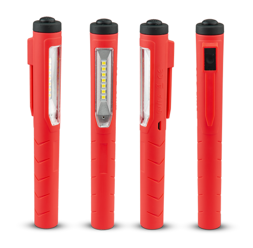 PL170 - Compact Inspection Lamp. Rechargeable, Magnetic Pen Light. Flood Lamp with Torch Light. Highly Efficient SMD Design. 2 Year Warranty. Chemical Resistant. Impact and Shock Resistant. Rear Pocket Clip. Autolamp. Ultimate LED.