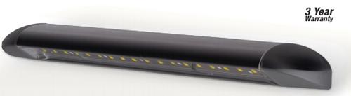 23450BLK - Caravan Awning Lamp. Black Housing Slimline Awning Light. Exterior Grade Finish. 3 Year Warranty. Screw Mount. 12v Only. Single Pack. Autolamp. Ultimate LED.