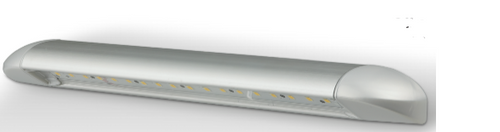 23450 - Caravan Awning Lamp. Silver Housing Slimline Awning Light. Exterior Grade Finish. 3 Year Warranty. Screw Mount. 12v Only. Single Pack. Autolamp.  Ultimate LED.
