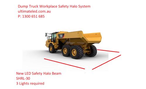 Red Workplace Safety Halo Light Kit. Machine Red Spot Awareness Light with Red Safety Halo Line Beams. Workplace Pedestrian Safety Light Systems. Complete Kit. Ultimate LED. Australia. SHRL-20EK
