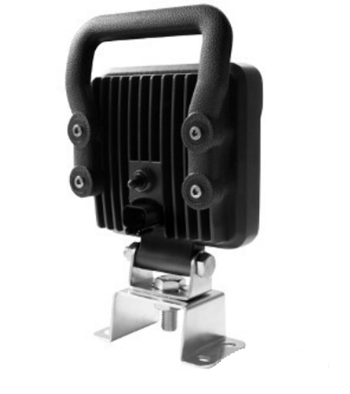 RWL814FHS - LED Work Light. Square Flood Beam with Handle & On/Off Switch. Multi-Volt 10-30v 14W. Super Low Currant Draw. Water and Dust Proof. RV. Ultimate LED.