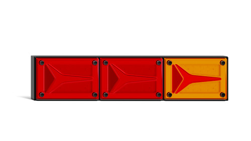 595BARRM - Combination Tail Light. Large Tray & Truck Series Light. Diffused Tail Function. Coloured Lens. Stop, Tail and Indicator Lights. Caravan Friendly. Single Pack. Multi-Volt 12v & 24v. Autolamp. Ultimate LED.