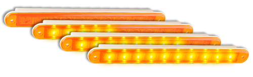235ASEQ-2 - Sequential Indicator. Slimline Low Profile Light. Recessed Fitting. Includes Grommet. Coloured Lens. Twin Pack. Autolamps. Ultimate LED.