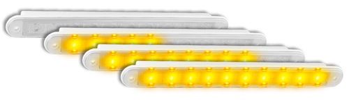 235CSEQ-2 - Sequential Indicator. Slimline Low Profile Light. Recessed Fitting. Includes Grommet. Clear Lens. Twin Pack. Autolamps. Ultimate LED.