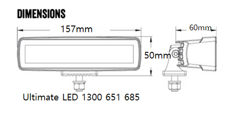 150 x 50 x 60mm