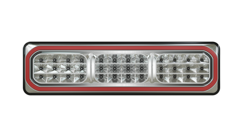 3852ARWM -2-LR - Combination Tail Lamp. 3852 Series. Diffused Tail Light. ECE Approved. Multi-Volt 12-24v. 5 Year Warranty. Twin Pack. Left Hand Side and Right Hand Side Plus Load Resistor. Autolamp. Ultimate LED.