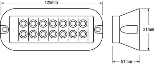 Strobe Module Line Drawing