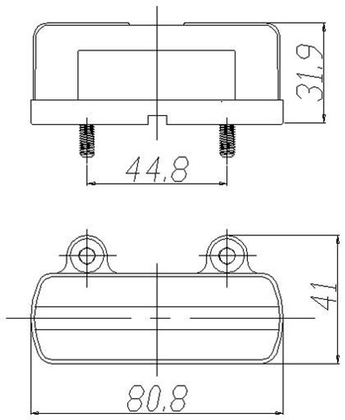 BR25B Number Plate Line Drawing