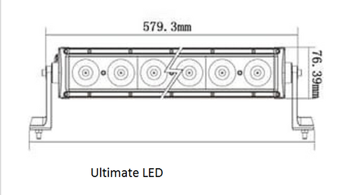 Line Drawing - BBL5100C - Combination LED Driving Light Bar 22 Inch 100 Watt Multi-Volt. RoadVision. Ultimate LED.