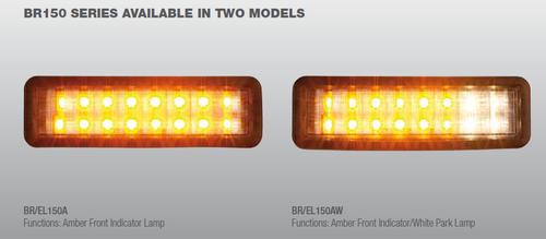 Light Illumination. Left lights is the indicator only - BR150A. Right lights is the indicator and park light - BR150AW.