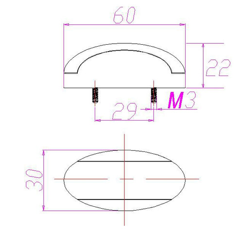 Line Drawing for Clearance Marker Light.