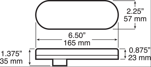 Oval Indicator LED Light. Quality USA Peterson Oval Flush Mount, Rubber Grommet, LED Indicator Light. Multi-Volt 12v and 24 volt DC Systems. New LumenX Range. 1220 Series. 1220KA-10.