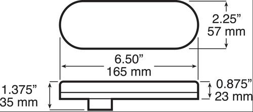 1220KC-10 - Oval Reverse LED Light. Quality USA Peterson Oval Flush Mount, Rubber Grommet, LED Reverse Light. Multi-Volt 12v and 24 volt DC Systems. New LumenX Range. 1220 Series. Peterson. Ultimate LED.