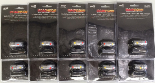 Front Marker, Clearance Light. BR3 Series White - Box of 10.