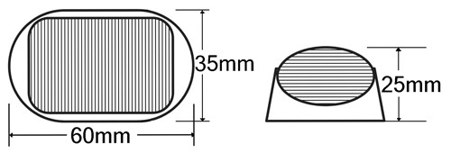 Line Drawing Side Marker Light. BR5 Series