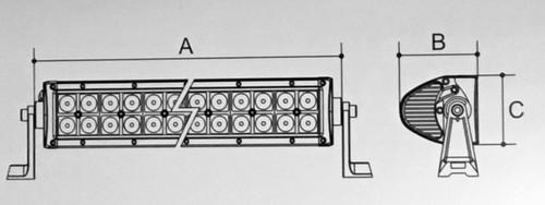 Dimensions: A = 358mm. B = 87mm. C = 79mm.