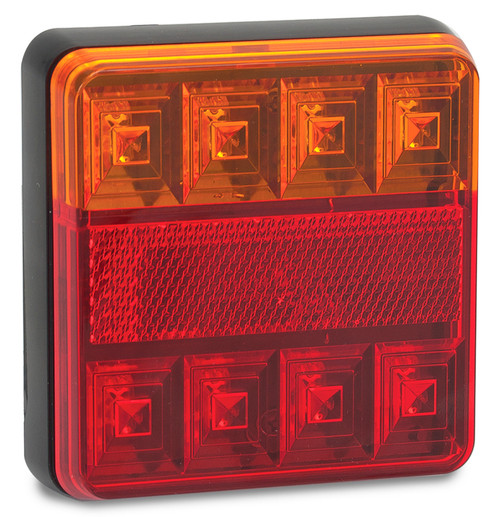 101BAR2 - Combination Tail Light. Small Trailer Rear Light. Stop, Tail, Indicator, Reflector Light 12v Blister Twin Pack. LED Auto Lamps.  Ultimate LED.