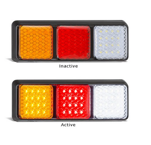 282ARWM Stop Tail Indicator & Reverse Light. Single Pack. Multi-volt 12-24v. AL. Ultimate LED.