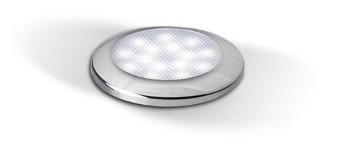 7515C - Interior Lamp, Cool White With Chrome Bezel 12v Single Pack. AL. Ultimate LED.