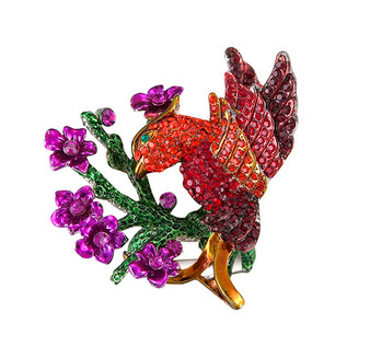 Bird w/Flower  Ring