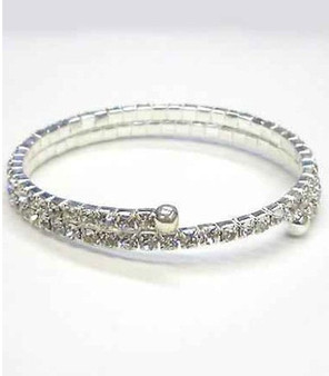 Double Row Rhinestone Bangles