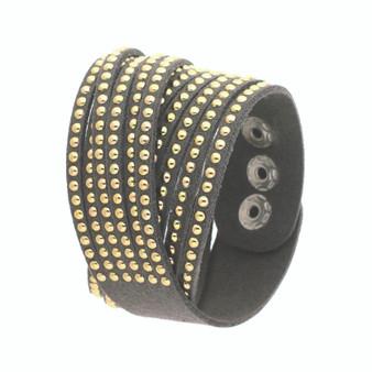 Wristband w/ Studs(Grey)