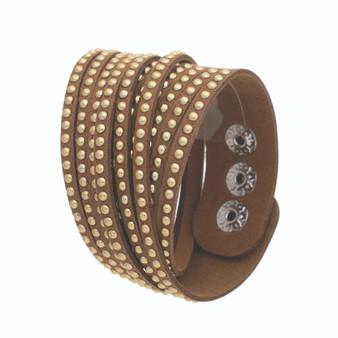 Wristband w/ Studs(Tan)