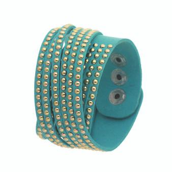 Wristband w/ Studs(Turquoise)