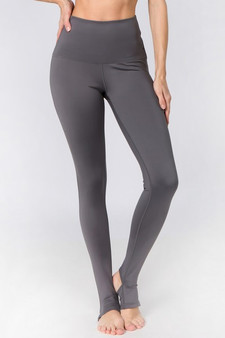 Active High Rise Stirrup Leggings - CHARCOAL