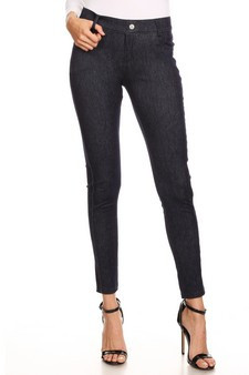 5 Pocket Soft Knit Skinny Jegging - NAVY