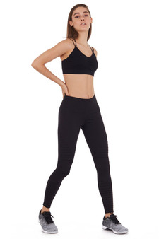 COVERGIRL-COMPRESSION MOTO LEGGING(BLACK )