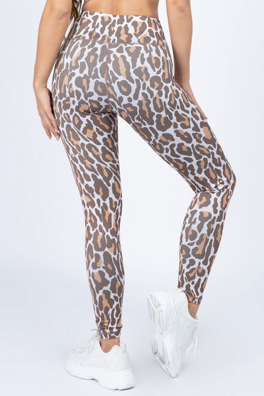 Leopard Workout Leggings  - TAN