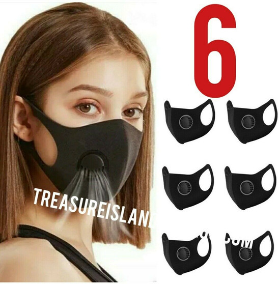 Breathable Face Mask With Filter(6 Masks Per Pack) with Vent Free shipping!! US Only!!