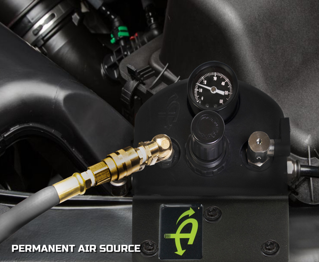 218-1819 (JEEP JL Front Engine Mount - 4 TIRE INFLATION SYSTEM) UDA Controller Box in Front Engine w/ Connecting Hose.