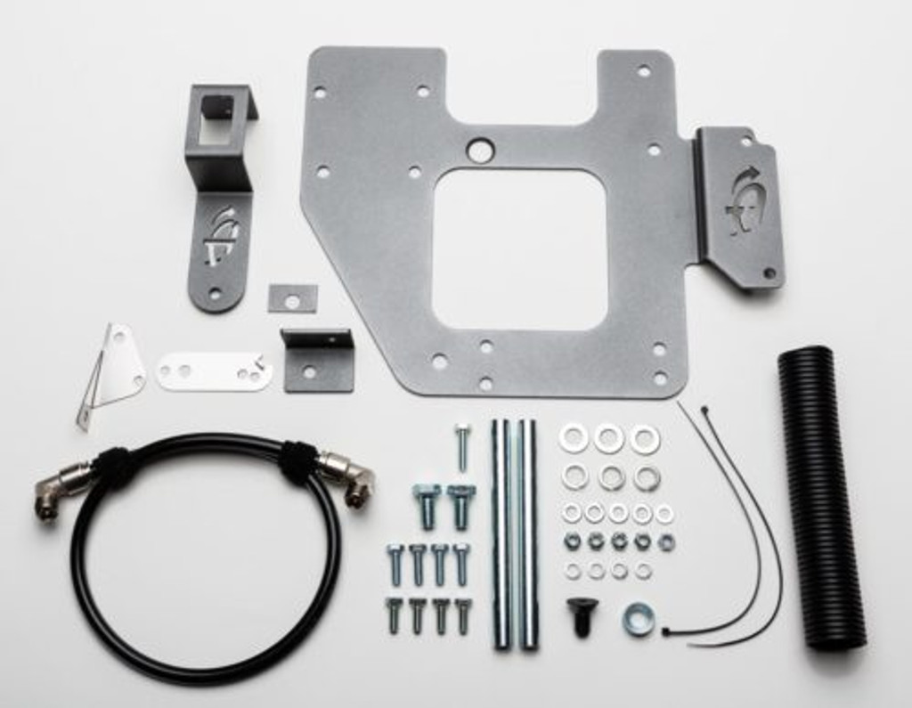 (JEEP® JK ARB® CKMTA12 ENGINE MOUNT INSTALL BRACKET KIT) (22-7810). Full Kit Overview.