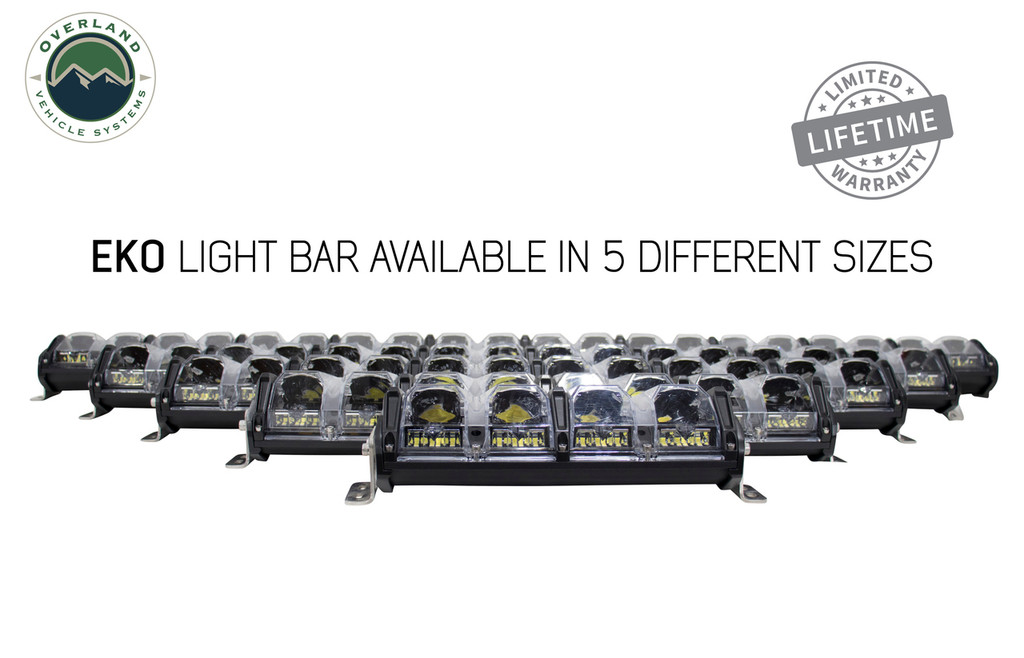 "5010101 Overland Vehicle Systems EKO 10"" LED Light Bar With Variable Beam, DRL,RGB, 6 Brightness..  Available In Five Different Sizes."