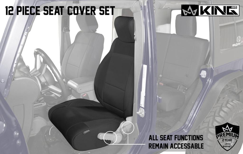 11010501 King 4WD Premium Neoprene Seat Cover Jeep Wrangler JK Unlimited 4 Door 2007
