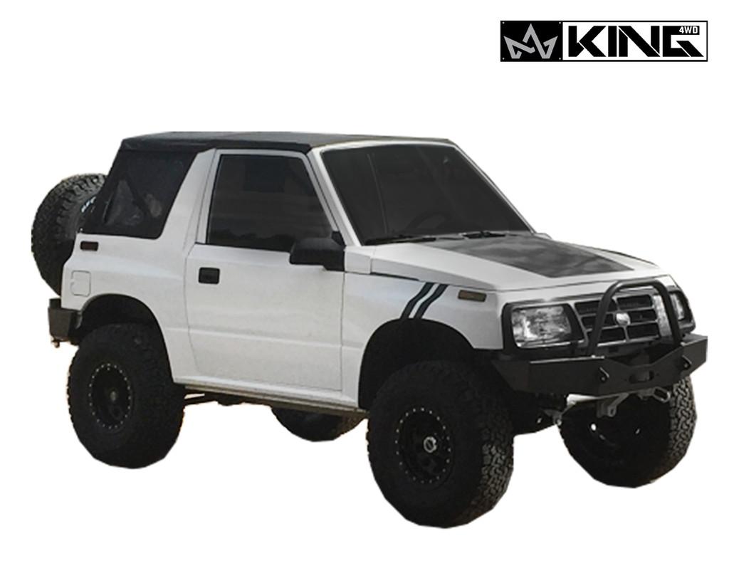 14011135 King 4wd Premium Replacement Soft Top Black Diamond With Tinted Windows 1986 1994 Suzuki Sidekick Geo Tracker Overland Vehicle Systems