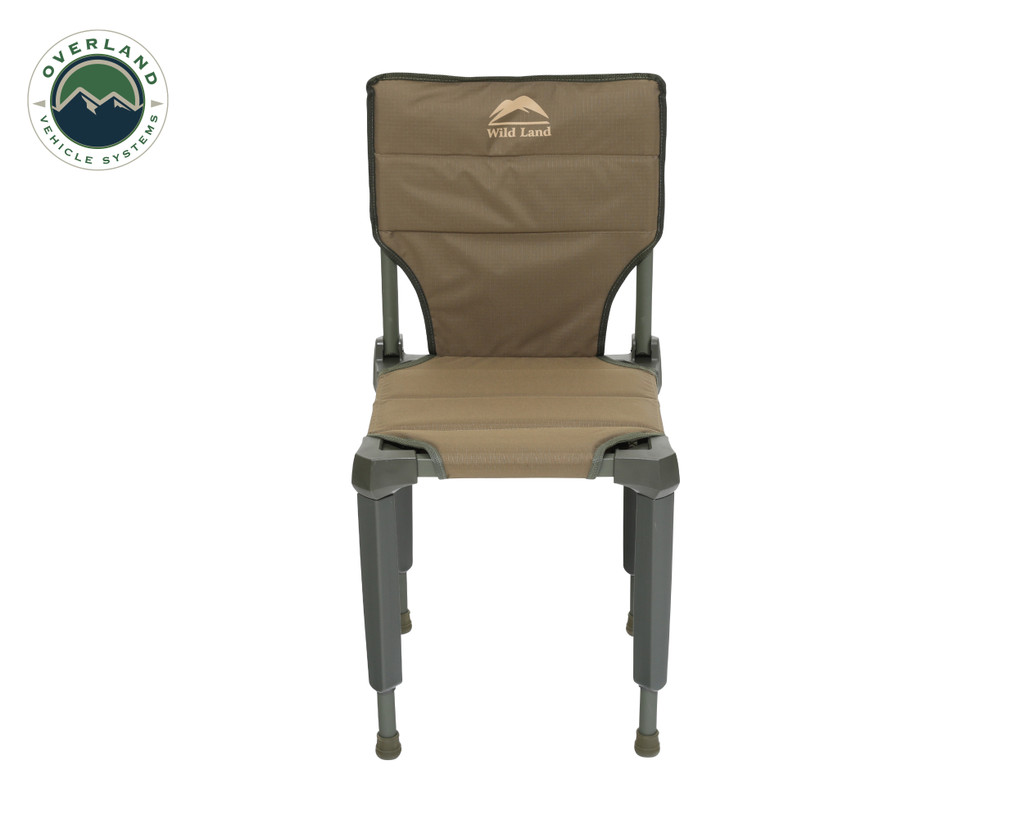 Wild Land Camping Gear - Chair With Storage Bag. Chair Front View